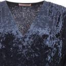 Miss Mollie TRAFFIC PEOPLE Blue Velvet Shift Dress