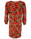 Little Secret TRAFFIC PEOPLE Retro 70s Dress RED