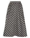 TRAFFIC PEOPLE Retro 60s Mod Dogtooth Midi Skirt