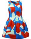 Japer TRAFFIC PEOPLE Geo Print Retro Party Dress