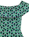 TRAFFIC PEOPLE Little Wiggle Geometric Print Dress