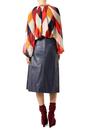 McGraw TRAFFIC PEOPLE Retro 70s Leatherette Skirt