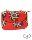 TRAFFIC PEOPLE Retro 60s Flower Saddle Bag RED