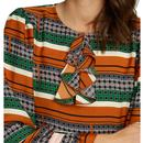 Thrilled TRAFFIC PEOPLE Retro 60s Ruffle Dress