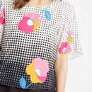 Whisper TRAFFIC PEOPLE Retro 60s Dot Floral Top