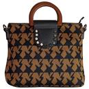 traffic people tote bag retro winter star brown