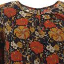 Seasons TRAFFIC PEOPLE Oversized Floral Top NAVY