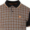 TROJAN RECORDS Mod Dogtooth Check Jacquard Polo B