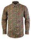 trojan records classic paisley navy shirt mod