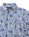 TROJAN RECORDS 1960s Mod Floral Paisley Shirt (W)