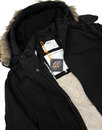TROJAN RECORDS Retro Mod Fishtail Parka BLACK