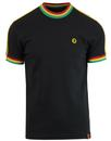 trojan records retro mod rasta stripe tee black
