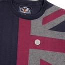 TROJAN RECORDS Knitted Crew Neck Union Jack Jumper