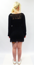 TULLE Retro Sixties Crochet Back Tie Waist Dress
