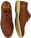 Turnmill PETER WERTH 60s Mod Tobacco Suede Brogues