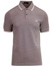 fred perry twin tipped pique polo shirt mahogany