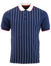 Tyson MERC Retro Mod Pinstripe Jersey Polo Shirt