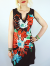 Fander VILA JOY Retro 70s Mod Floral Tunic Dress