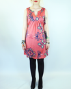 Pais VILA JOY Retro 60s Mod Paisley Tunic Dress