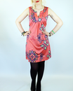 VILA JOY RETRO 60s MOD PAISLEY TUNIC MINI DRESS