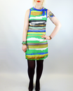 Ikat VILA JOY Retro 70s Mod Voile Striped Dress