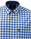 VIYELLA Cotton Retro Mod Linen Gingham Check Shirt