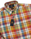 VIYELLA Herringbone Plaid Check Button Down Shirt