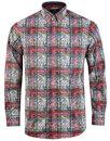 viyella retro mod psychedelic paisley tartan shirt