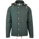 weekend offender brook quilted hooded jacket spruce green