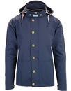 Burgess WEEKEND OFFENDER Retro Hooded Jacket NAVY