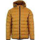 weekend offender frazier retro puffa padded jacket mustard
