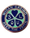 wigan casino keep the faith pin badge