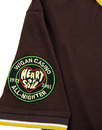 WIGAN CASINO Womens Mod Badged Polo Brown