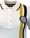 WIGAN CASINO Womens Racing Stripe Owl Badge Polo