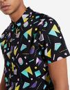 WRANGLER Retro 1980s Abstract Print Summer Shirt