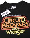 Circuit Breaker WRANGLER Men's Retro 1970s T-Shirt