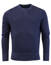 wrangler crew neck sweater navy mod