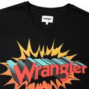 Hero WRANGLER Men's Retro 70s Graphic T-Shirt