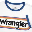 WRANGLER Men's Retro Pill Logo Ringer Tee (White)