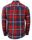 WRANGLER Retro Mod Plaid Check 2 Pocket Shirt RED