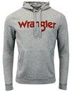 wrangler mens retro 70s popover logo hoodie grey
