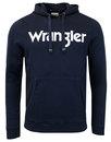 wrangler mens retro 70s popover logo hoodie navy