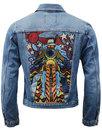 WRANGLER Luke McLean Retro 70s Biker Denim Jacket