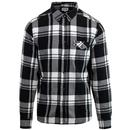 wrangler shirt checked black white pocket