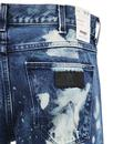 Spencer WRANGLER Retro 70s Bleach Patch Slim Jeans