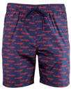 wrangler retro all over print swim shorts scarlet