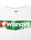 WRANGLER Retro 70s Wash Logo T-Shirt VINTAGE WHITE