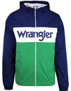 wrangler wally retro windbreaker jacket blue depth