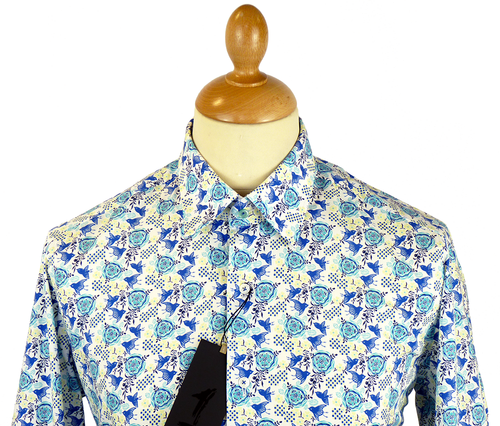 Happy Bird 1 LIKE NO OTHER Retro Floral Shirt