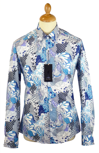 1 LIKE NO OTHER THEBES PATCHWORK RETRO MOD SHIRT